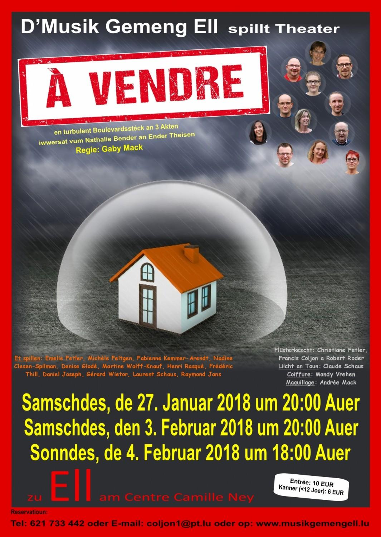 Theater 2018 - A vendre - Musik Gemeng Ell